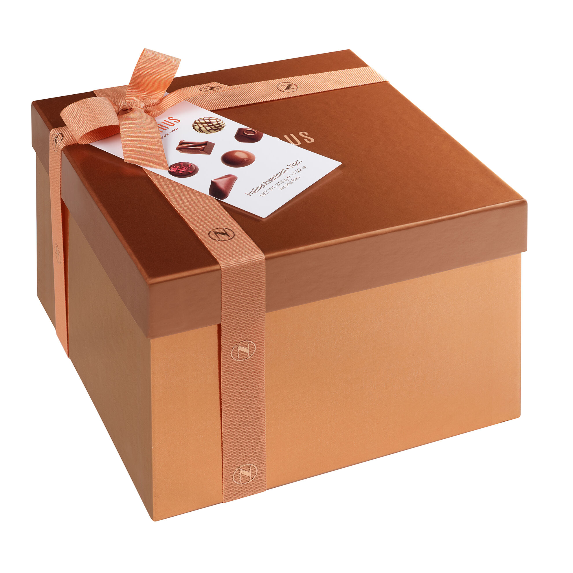 Large Square Gift Box With Ribbon 24 pcs image number 11
