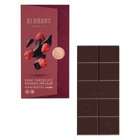 Dark Chocolate with Raspberry Bits Tablet
