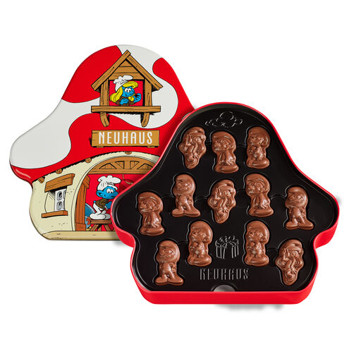 Chocolate Smurfs Mushroom House Tin 24 pcs image number 01