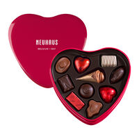 Red Tin Heart Box Chocolate Assortment 10 pcs