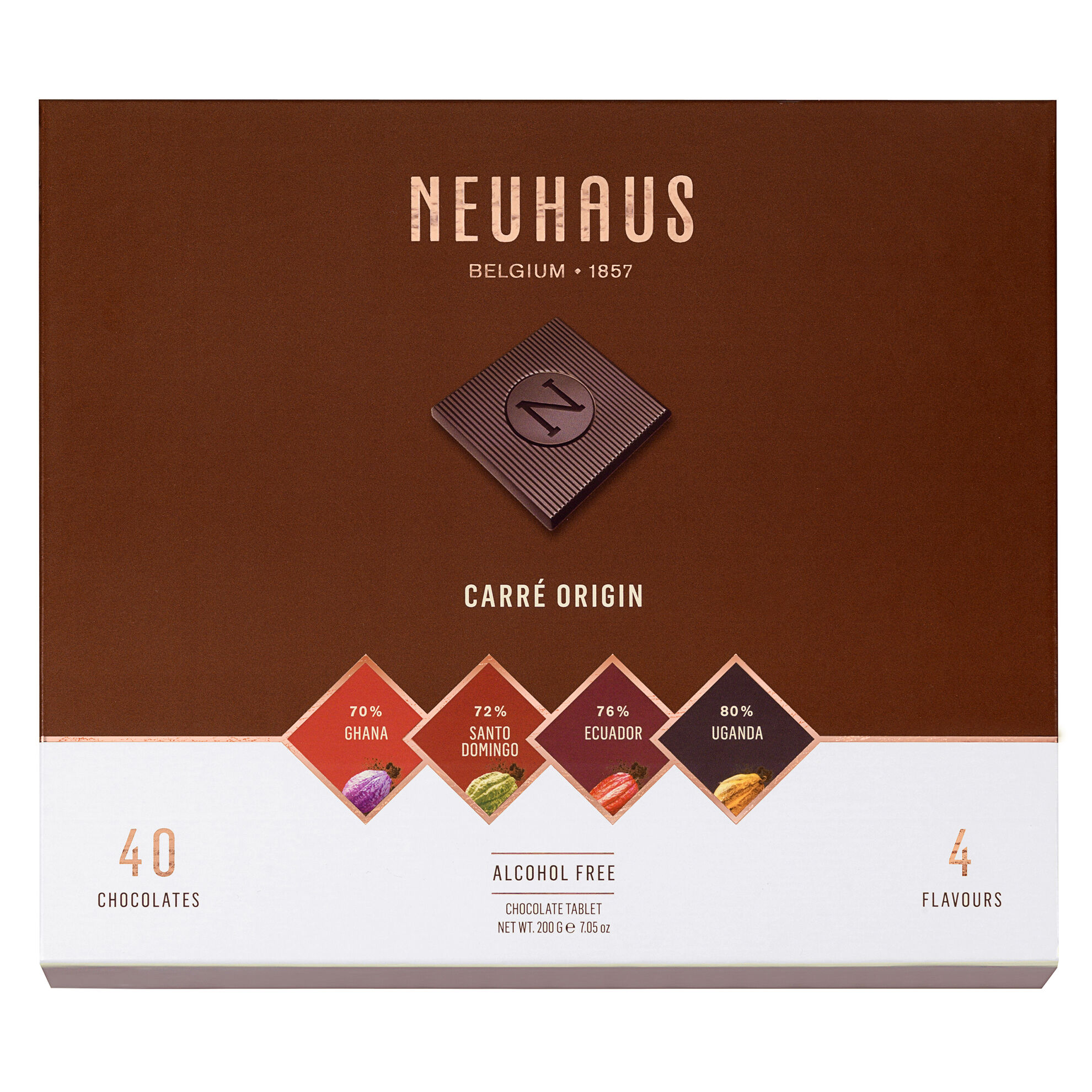 Belgian Chocolate Squares - Carré Origin Dark 40 pcs image number 11