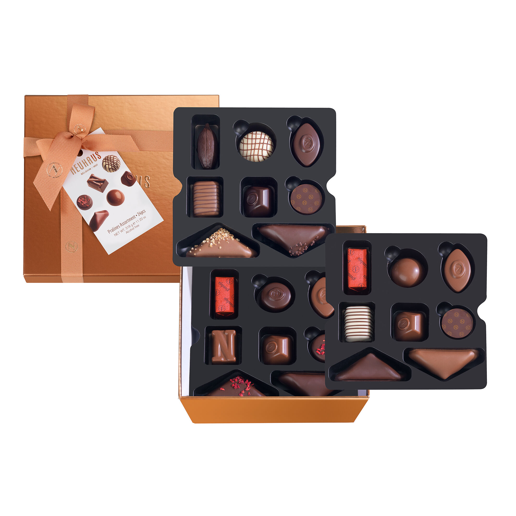 Large Square Gift Box With Ribbon 24 pcs image number 01