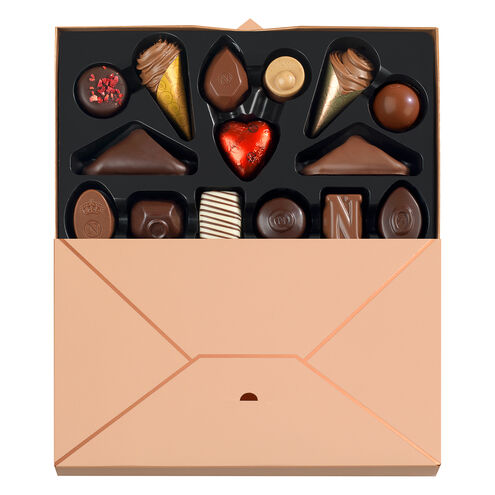 Chocolate Letter Box, 15 pcs image number 01