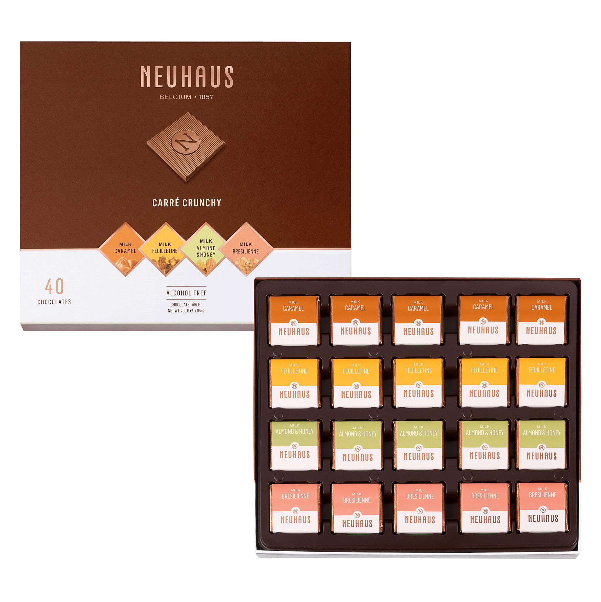 Belgian Chocolate Squares - Carré Crunchy Milk 40 pcs image number 01