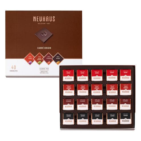 Belgian Chocolate Squares - Carré Origin Dark 40 pcs image number 01