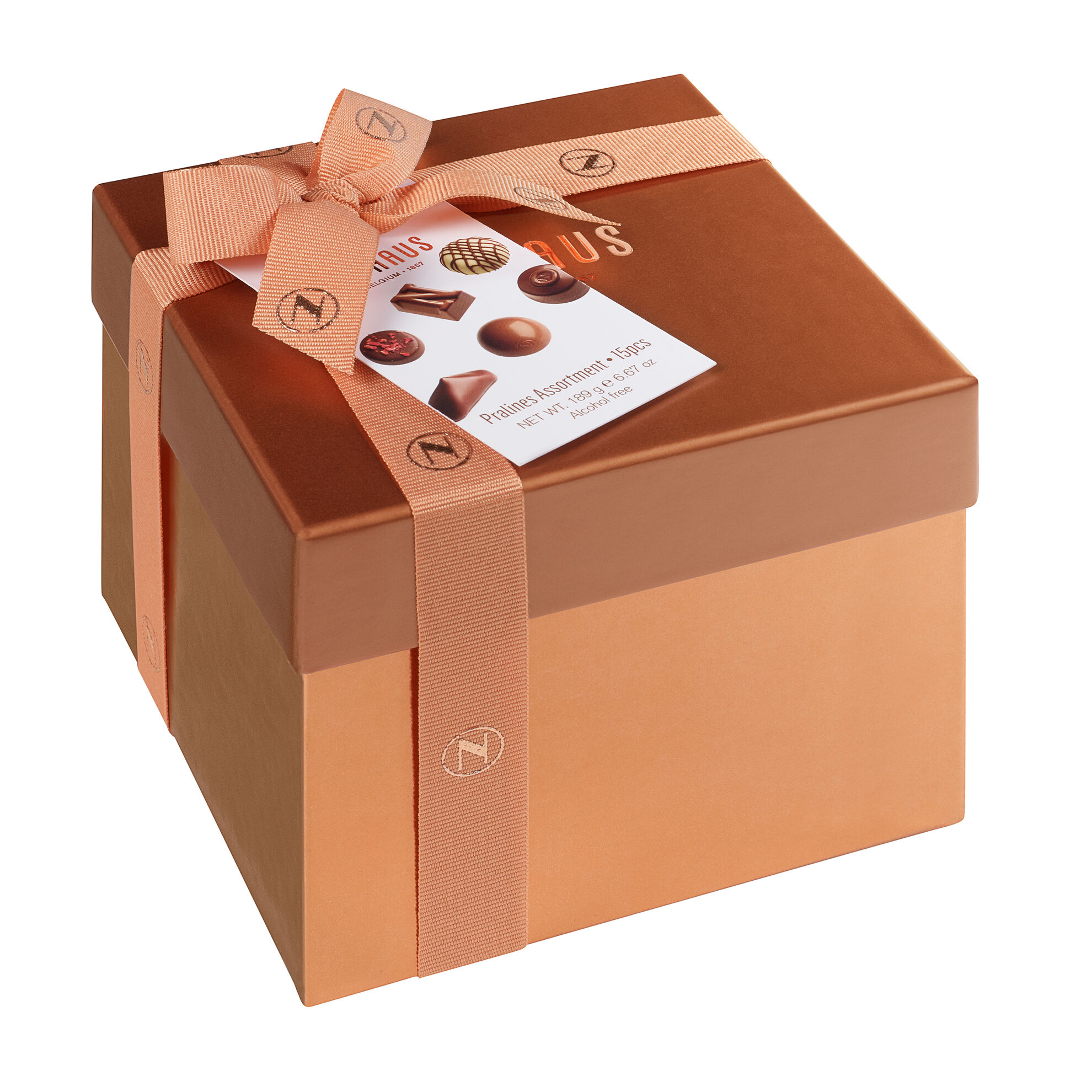Medium Square Gift Box With Ribbon 15 pcs image number 11