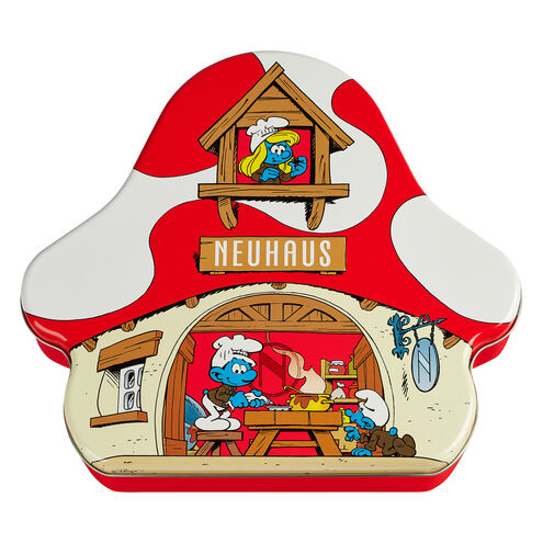 Chocolate Smurfs Mushroom House Tin 24 pcs image number 11